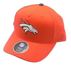Denver Broncos Youth Boys One Size Fits Most Adjustable hook & loop Hat Cap