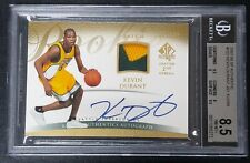 2007-08 SP Authentic Rookie #152 Kevin Durant AUTO PATCH RC 188/299 BGS 8.5 10