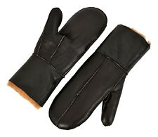 B-3 Sheepskin Mittens Gloves Thick Winter Gloves Real Shearling Fur Warm Mitts