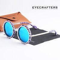 Fashion Retro Designer Round Large Oversized Womens Polarized Sunglasses Shades