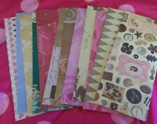 Scrapbooking paper Envelopes - letter size set of 12 Handmade Envelopes 4x 9 (a)
