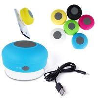 Mini Portable Waterproof Bluetooth Shower Speaker Car Handsfree Mic Speaker