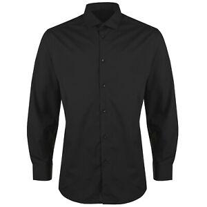 New Mens Long Sleeve Formal Shirt Button Up Plain Smart Dress Work Office Top