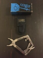 GERBER USA MAC TOOLS Stainless 9-Tool Multi-Plier With Cloth Sheath And Box