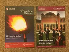 2 University of Birmingham Magazines (Birmingham Magazine#23/Alumni News May 12)
