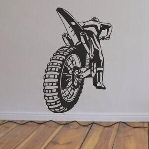 MotoCross Crosser Motorrad Wandtattoo Wandbild Aufkleber Wandfolie 58 x 90 cm