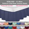 Luxury Plain Dyed Frilled 100% Poly Cotton Platform Base Valance Sheet All Sizes