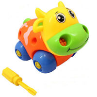 Elegant Plastic Detachable Toy Cute Animal Cattle Model Toy Smart Toy For Kids-