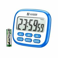Habor Kitchen Timer, 24-Hours Digital Timer [Multifunctional] with Clock New