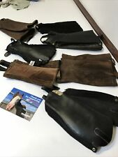 7 Pairs Horse Riders Leather And Suede Half Chaps