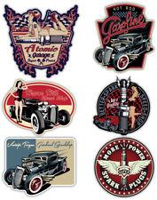 Hot Rod Vintage Custom Car Sticker set Large Classic Retro Decal