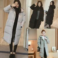 Winter Womens Loose Puffer Long Coat Parka Jacket Hooded Oversized Outerwear New