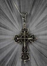 Cross Pendant Necklace  Pewter  Unisex Crucifix Men Women---- FREE Chain