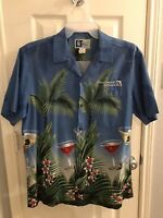 Continental Airlines Hawaiian Shirt Men's size Large