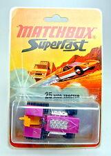 Matchbox SF nº 25b mod tractor lila metalizado en escasos termosellada