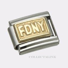 Original Clessidra Italy Nomination 18k FDNY Charm
