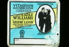 ARSENE LUPIN - Rare 1917 Silent Film EARLE WILLIAMS Movie Glass Slide VITAGRAPH