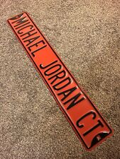 Vintage Michael Air Jordan Court Metal Street Sign Mancave Bar Full Size Red