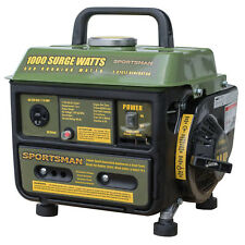 GAS POWERED PORTABLE GENERATOR 1000/900 WATT Oil Gas Mix Quiet Home RV Camping