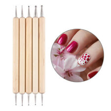 5Pcs 2-Way Wooden Nail Art Dotting Dot Pen Marbleizing Manicure Tools DIY Set