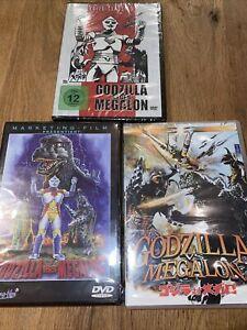 Das Godzilla Gegen Megalon triple 3 Verschiedene Versionen Neu