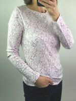 M&S Marks Spencer Womens Ladies Lilac Floral Spring Print Long Sleeve Top