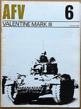 AFV #6 - Valentine Mark III - Profile Publ. '70 - carri armati esercito WW2