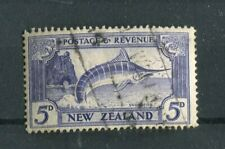 New Zealand KGV 1935-36 5d ultramarine SG563c used