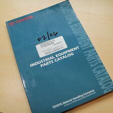 Toyota 7fgcu15 7fgcu18 7fgcsu20 Forklift Parts Manual Book Catalog Spare List 7f