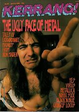 Steve Harris of Iron Maiden on Kerrang No: 183 Cover 1988  Nikki Sixx  Metallica