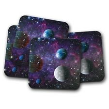 4 Set - Purple Solar System Coaster - Space Planets Galaxy Sci-Fi Gift #13270