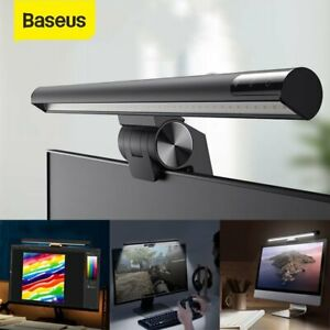 Baseus LED Desk Lamp Reading Bar Computer Touch Dimmable Monitor Screen Light