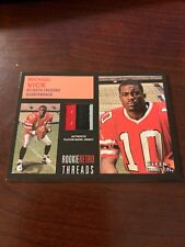 2001 Fleer Tradition Rookie Retro Threads Michael Vick Three 3 Color Jersey Card