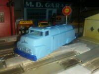 Vintage Tootsie Toy Diecast Car Blue Oil Tanker Truck Gas Truck Repaint 1950's