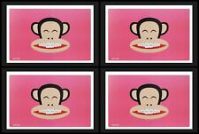 4 PINK Paul Frank Table Mat/Placemat With Julius Wearing Teeth Braces - 20120003