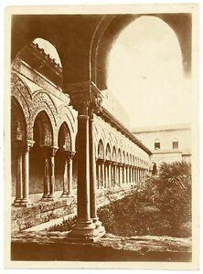 Gaetano D'Agata Taormina circle Von Gloeden Cloister Monreale Large photo 1920c