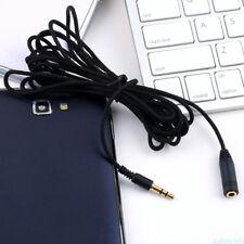 Audio Kabel 3M/10FT Verlängerung Stecker Klinke auf 3.5mm Buchse schwarz SA5