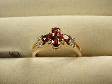 Rare Australian Capricorn Zircon & Diamond 10K Yellow Gold Ring Size L-M/6