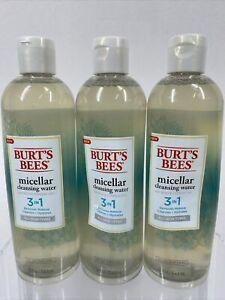 (3) Burt's Bees 3-in-1 Micellar Cleansing Water + Cypress Makeup Remove 12oz