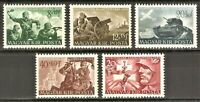 DR Hungary Nazi WWII Rare Stamps 1941 War Scenes Soldiers Attack Luftwaffe Tank