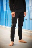 Mens Regatta Black Base Layer Long Sleeve Thermal Top / Leggings TRU115 / 117