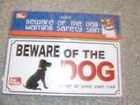 LARGE PLASTIC BEWARE OF THE DOG PET WARNING SIGN SAFETY DOOR GATE PLUS 4 SCREWS