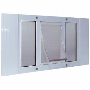 "Ideal Pet Products Aluminum Sash Pet Door Small White 1.75"" x 33"" x 12.56"""