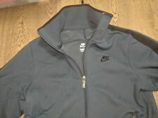 Nike Zip Track Jacket Training Navy Blue Black Size Small Pre Owned