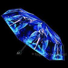 *ENCHANTMENT* Fantasy Fairy Gothic Art Folding Umbrella By Anne Stokes