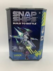 New & Sealed Snap Ships Build to Battle Lance SV-51 Scout (2 Builds in 1)