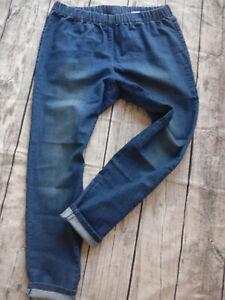 Sheego Jeans Hose Stretch Jeggings Gr 42 bis 54 blau (669) Gummizug