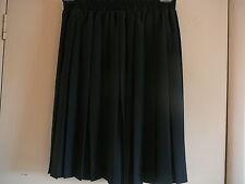 Womens Skirt ME Black Sz M PolyesterAbove Knee Elastic Waist
