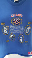 Vintage 90s Chicago Cubs Single Stitch Nutmeg Mills Patch Blue T Shirt Mens Sz L