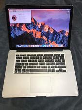 15-inch MacBook Pro (Late 2011) 2.2 GHz i7, 8GB RAM, 750GB HD, macOS Sierra